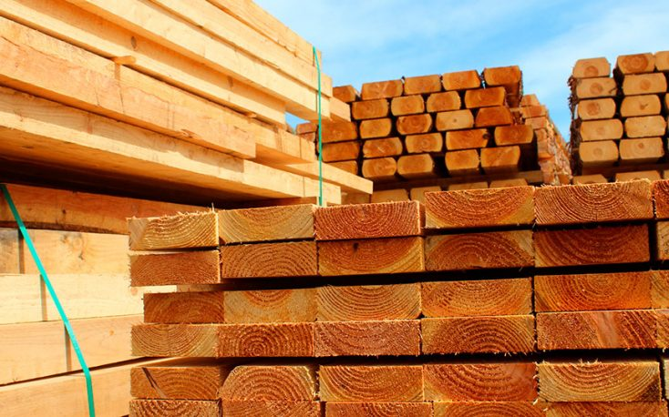 Prices for Canadian softwood lumber imports in the US reach record highs