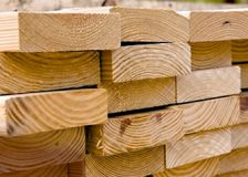 Softwood lumber production in N. America on a downward trend