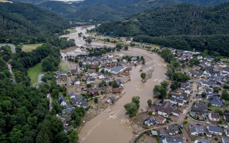 Floods may affect timber production in western Germany